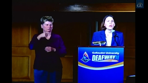 Thumbnail for entry The Deaf Way II: Presentation Series Advocacy and Community Development  Deaf Inmates: Double Imprisonment
