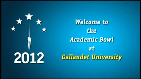 Thumbnail for entry 2012 National Academic Bowl and Awards Ceremony