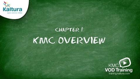Kaltura Management Console (KMC) Overview