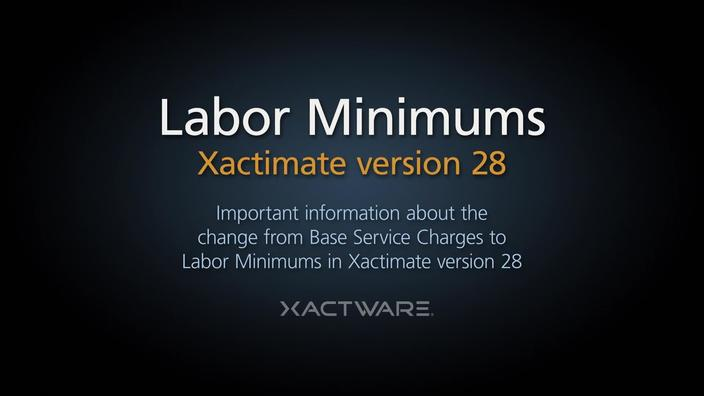 Labor Minimums | Pricing Data Services