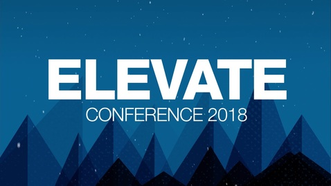 Save the Date - Elevate Conference 2018