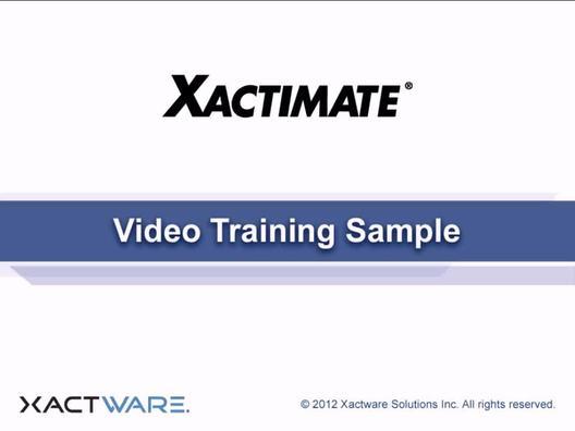 Xactimate Scenario (AU)   Self-Paced Training