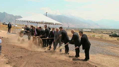 Thumbnail for entry Xactware Groundbreaking Ceremony Highlights