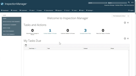 Inspection Manager version 18.0 Overview