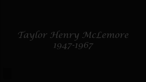 Thumbnail for entry McLemore, Taylor Henry