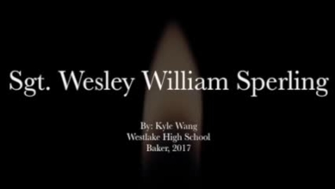 Thumbnail for entry Sperling, Wesley William