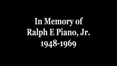 Thumbnail for entry Piano, Ralph E, Jr.