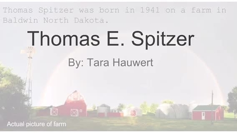 Thumbnail for entry Spitzer, Thomas E.