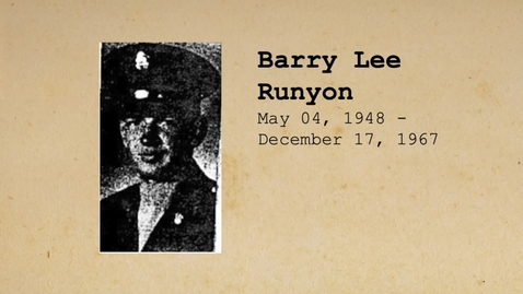 Thumbnail for entry Runyon, Barry Lee