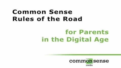 Thumbnail for entry Rules of the Road for Parents in a Digital Age