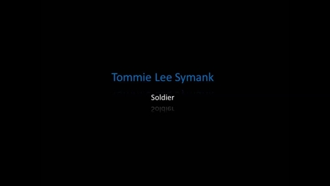 Thumbnail for entry Symank, Tommie Lee