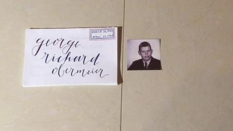 Thumbnail for entry Obermeier, George Richard