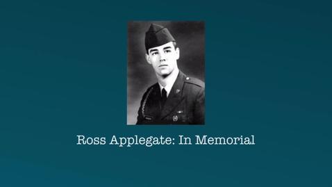 Thumbnail for entry Applegate, Ross