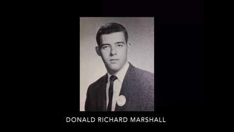 Thumbnail for entry Marshall, Donald Richard