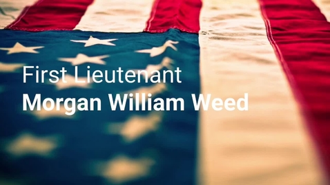 Thumbnail for entry Weed, Morgan William