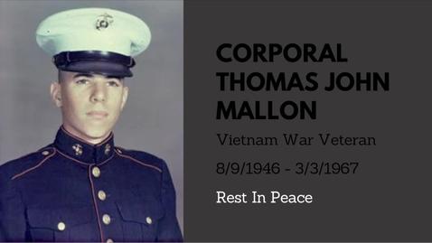 Thumbnail for entry Mallon, Thomas John