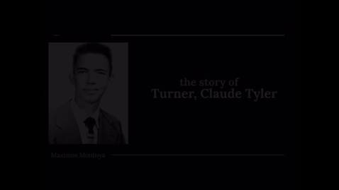 Thumbnail for entry Turner, Claude Tyler
