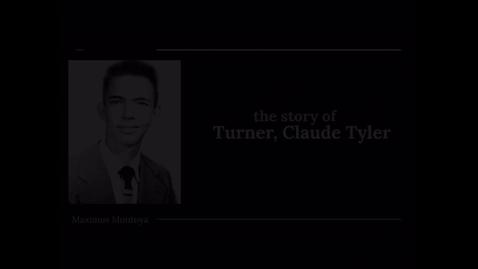 Thumbnail for entry Turner, Claude Tyler