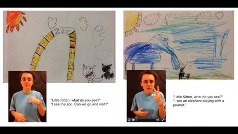Thumbnail for entry Little Kitten ASL iBook