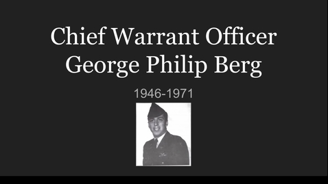 Thumbnail for entry Berg, George Philip