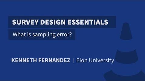 Thumbnail for entry What is sampling error?