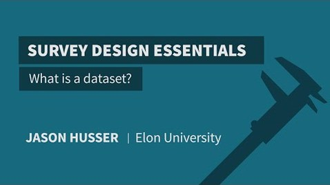 Thumbnail for entry What is a dataset?