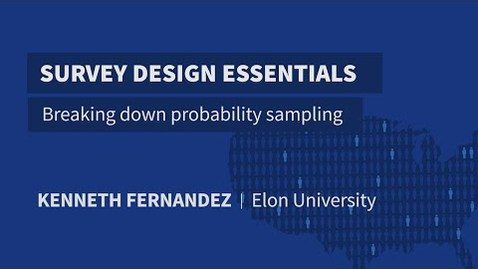 Thumbnail for entry Breaking down probability sampling