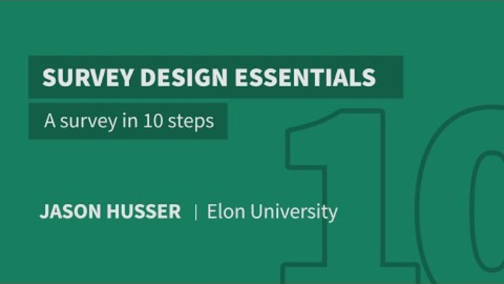 Thumbnail for channel Survey Design Essentials