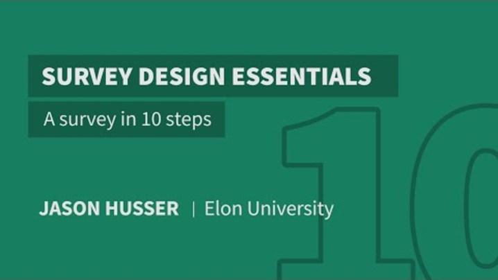 Thumbnail for channel Survey Design Essentials