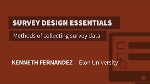 Thumbnail for entry Methods of collecting survey data