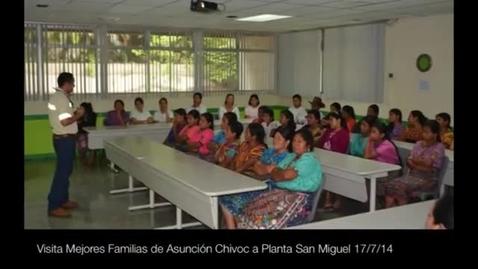 Miniatura para la entrada Visita de beneficiarias del Programa Mejores Familias, San Juan Sacatepéquez a Planta San Miguel