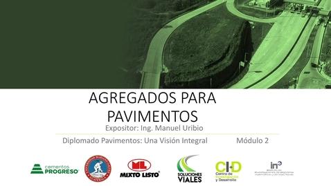 Miniatura para la entrada Agregados en pavimentos - Manuel Uribio