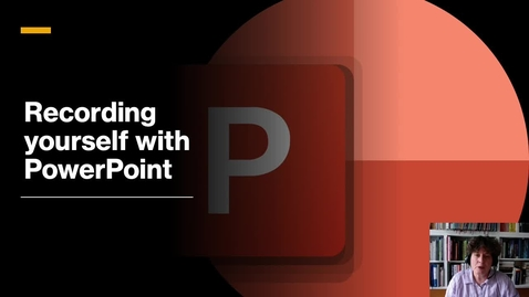 Thumbnail for entry Recording yourself with PowerPoint