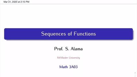 Thumbnail for entry Sequences of Functions, Part 1