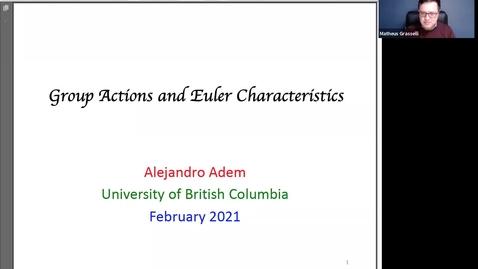 Thumbnail for entry February 5 - Alejandro Adem