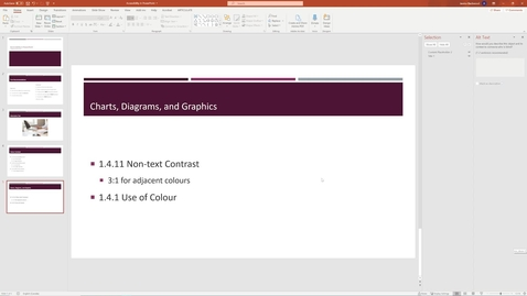 Thumbnail for entry 07 Charts Diagrams and Graphics - Accessible PowerPoint.mp4