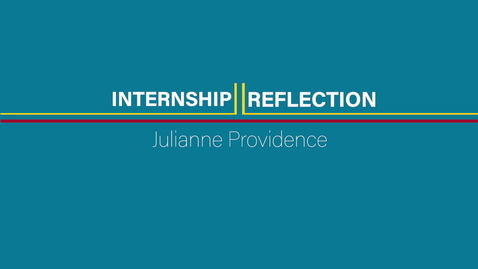 Thumbnail for entry Julianne Providence Soc Sci Internship - 01 Introduction