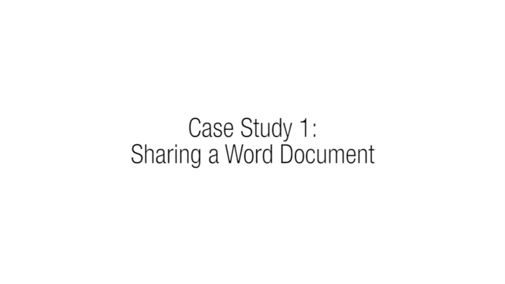 3.2 - Case Study 1 - Sharing a Word Document