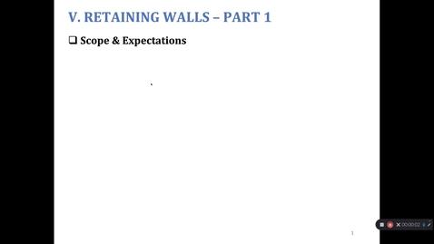 Thumbnail for entry Retaining Walls - 1