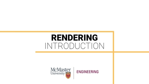 Thumbnail for entry Rendering in Inventor 101 - Introduction