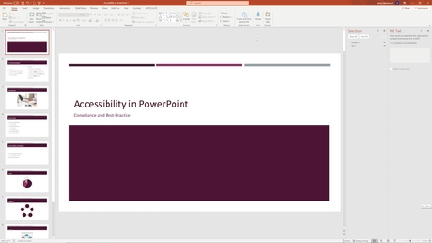 Thumbnail for entry 10 Check Accessibility - Accessible PowerPoint.mp4