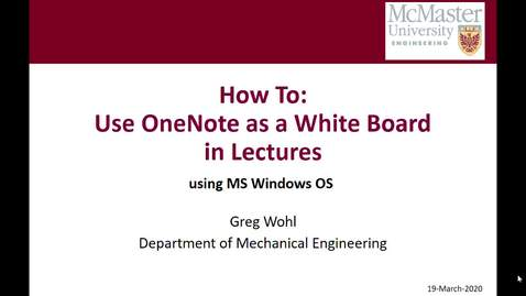 Thumbnail for entry How to Use OneNote as a White Board w-PPT slides