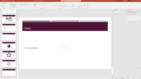 Thumbnail for entry 08 Tables - Accessible PowerPoint.mp4