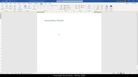Thumbnail for entry 07 Accessible Word Documents - Check Accessibility