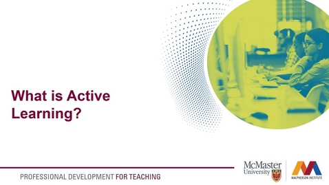 Thumbnail for entry What is Active Learning