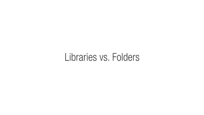 4.4 - Libraries vs. Folders