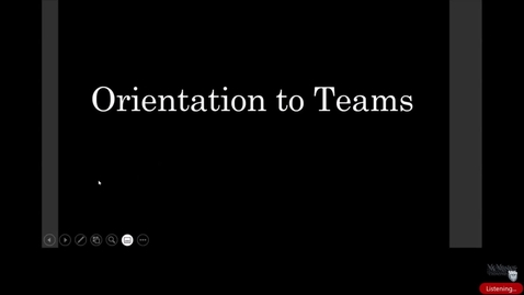 Thumbnail for entry Orientation to MS Teams