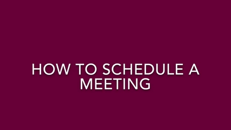 Thumbnail for entry Microsoft Teams: How To Schedule a Meeting