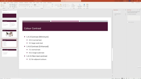 Thumbnail for entry 06 Colour Contrast - Accessible PowerPoint.mp4