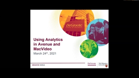 Thumbnail for entry Using Analytics in MacVideo and Avenue